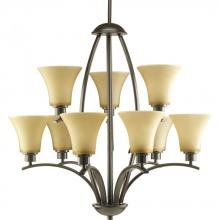 Progress P4492-20 - 9-Lt. 2-tier Antique Bronze Chandelier