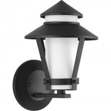 Progress P6010-31 - One Light Black  Etched Opal Glass Wall Lantern