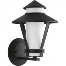 Progress P6011-31 - One Light Black  Etched Opal Glass Wall Lantern