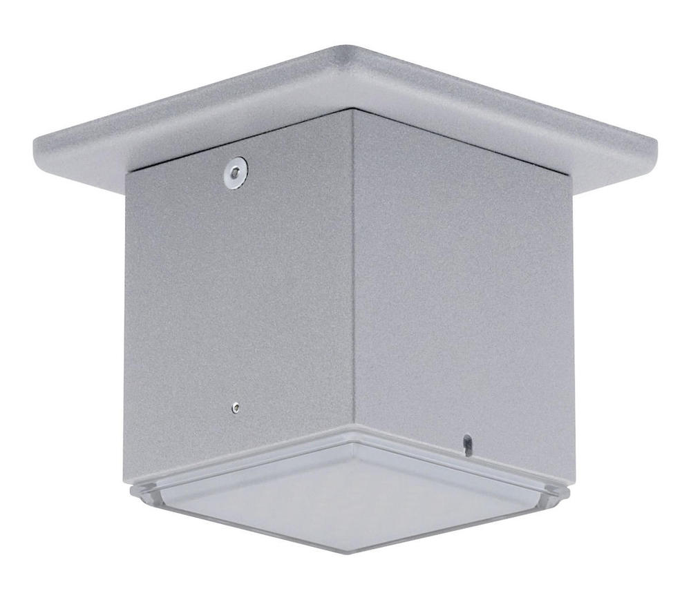 1x3.7W LED Outdoor Ceiling Light w/ Silver Finish