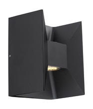 Eglo 200884A - 2x2.5 LED Outdoor Wall Light w/ Matte Black Finish