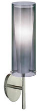 Eglo 20701A - 1x60W Wall Light w/ Matte Nickel Finish & Inner White Glass Surronded by an Outer Smoked Glass