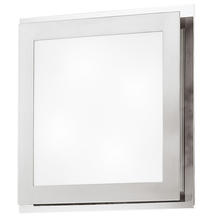 Eglo 82218A - 4x40W Wall/Ceiling Light w/ Matte Nickel & Chrome Finish & Satin Glass