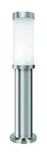 Eglo 86248A - 1x40W Outdoor Path Light w/ Matte Nickel Finish & Opal Frosted Glass