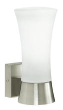 Eglo 88725A - 1x60W Outdoor Wall Light w/ Stainless Steel Finish & Opal Frosted Glass