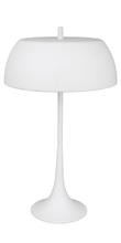 Eglo 90367A - 2x23W Table Lamp w/ White Frosted Painted Aluminum Finsih