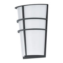 Eglo 94138A - 2x2.5W LED Outdoor Wall Light w/ Anthracite Finish & White Plastic Glass