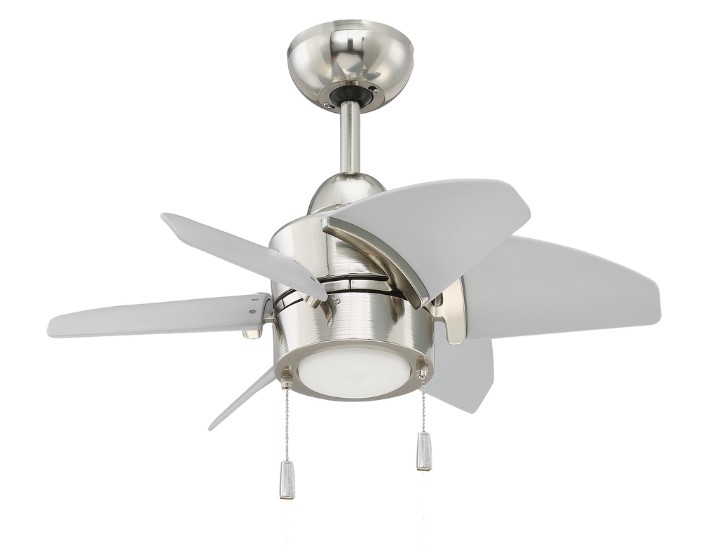 "Propel 24"" Ceiling Fan (Blades Included) in Polished Nickel"