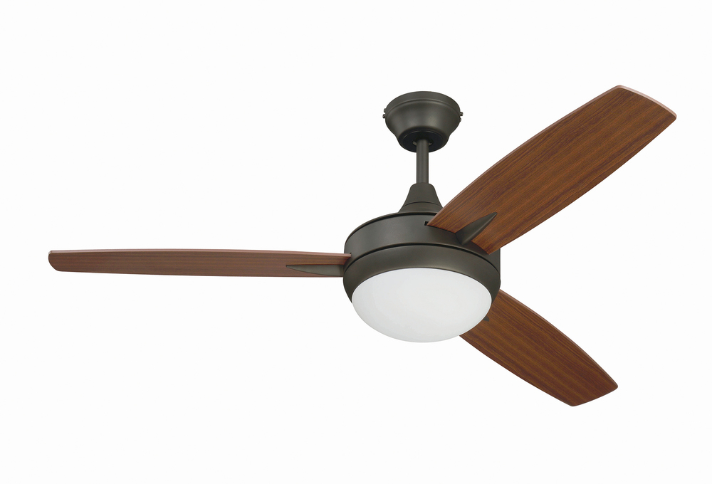 "Targas 48"" Ceiling Fan with Blades and LED Light Kit in Espresso"