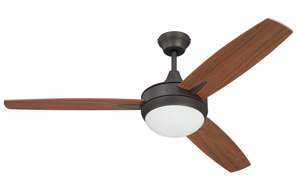 "Targas 52"" Ceiling Fan with Blades and LED Light Kit in Espresso"