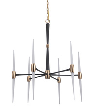 Craftmade 42626-FBSB-LED - Spire 6 Arm LED Chandelier in Flat Black/Satin Brass
