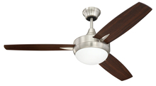 "Craftmade TG48BNK3 - Targas 48"" Ceiling Fan with Blades and LED Light Kit in Brushed Polished Nickel"