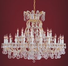 Crystorama 4308-GD-CL-MWP - Crystorama Maria Theresa 37 Light Clear Crystal Gold Chandelier