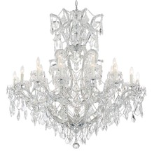 Crystorama 4424-CH-CL-MWP - Crystorama Maria Theresa 25 Light Clear Crystal Chrome Chandelier