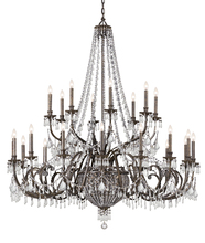 Crystorama 5170-EB-CL-MWP - Crystorama Vanderbilt 29 Light Bronze Chandelier
