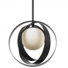 Crystorama 6461-MK - Crystorama Arlo 1 Light Matte Black Mini Chandelier