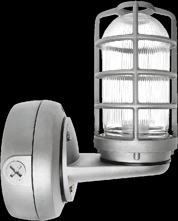 "VP CFL CEILING UPLIGHT 13W QT 3/4"" GLASS GLOBE DIECAST GUARD"