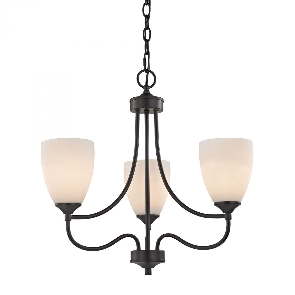 Arlington 3 Light Chandelier In Oil Rubbed Bronz
