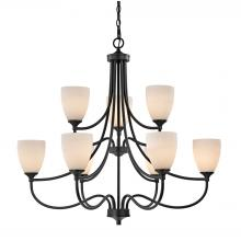 Elk Cornerstone 2009CH/10 - Arlington 9 Light Chandelier In Oil Rubbed Bronz