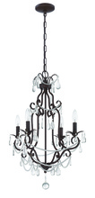 Jeremiah 1054C-AG - 4 Light Mini Chandelier in Aged Bronze Textured