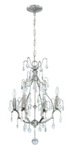 Jeremiah 1074C-BNK - 4 Light Mini Chandelier in Brushed Nickel