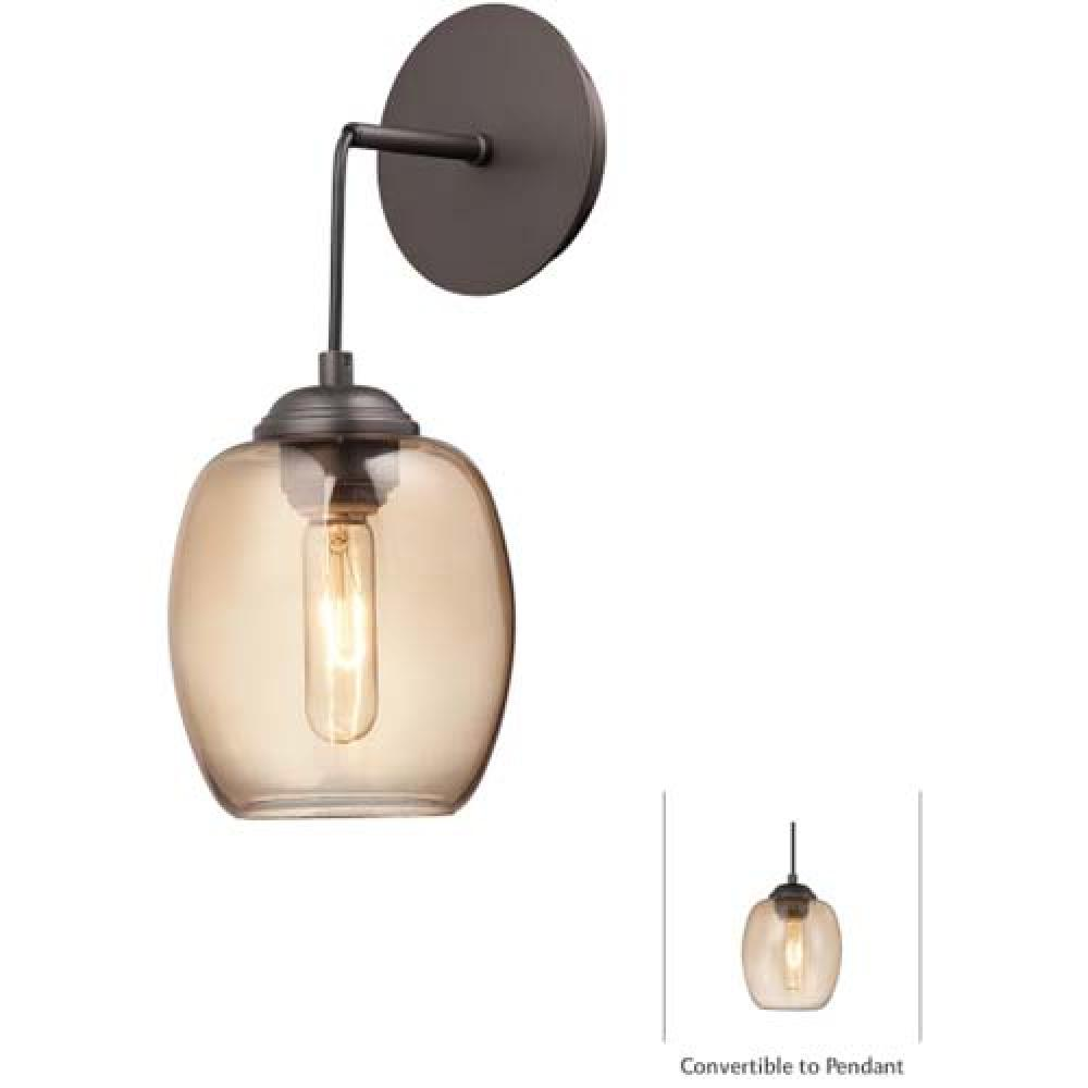 1 LIGHT MINI PENDANT (CONVERTIBLE TO WALL SCONCE)