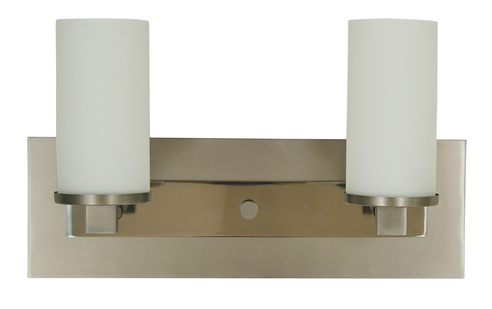 2-Light Satin Pewter/Polished Nickel Mercer Sconce
