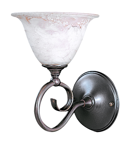 1-Light Mahogany Bronze Black Forest Sconce