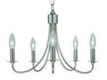 Framburg 1004 RB - 5-Light Roman Bronze Maisonette Mini Chandelier