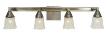 Framburg 4774 SP/PN - 4-Light Satin Pewter/Polished Nickel Mercer Sconce