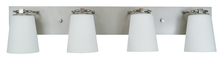 Framburg 4854 SP/PN/WH - 4-Light Satin Pewter/Polished Nickel/White Glass Mercer Bath Sconce