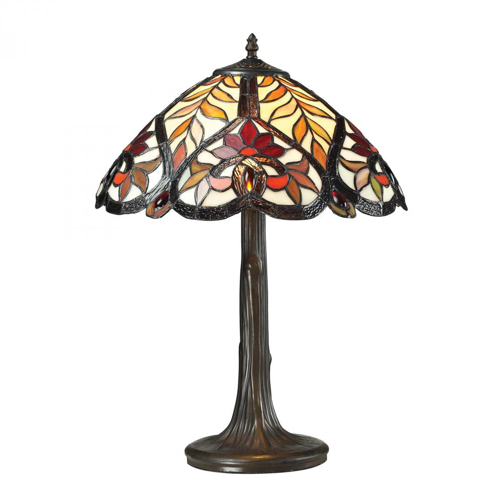 Brimford Tiffany Glass Table Lamp in Tiffany Bro